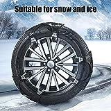 TOPQSC Universali catene da neve 6 pezzi materiale TPU catene per auto antiscivolo catene portatili per auto trazione pneumatici di emergenza misura larghezza degli pneumatici da 165 mm a 285 mm
