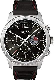 Hugo Boss Men'S Black Dial Black Silicone Watch - 1513525