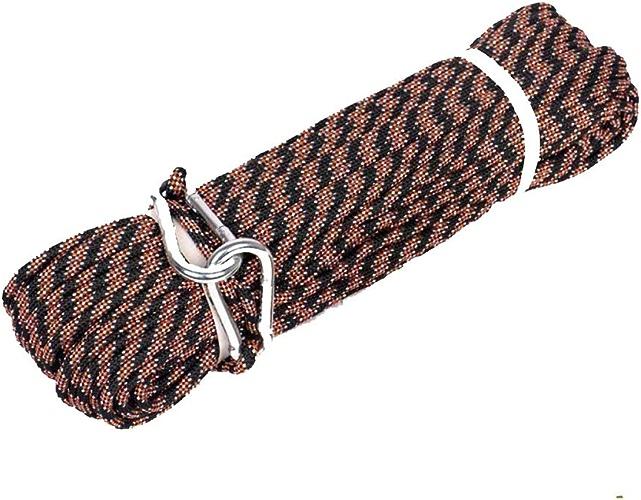 ZAIYI-Climbing rope Corde De Rechange Brune pour Extension Extérieure pour Alpinisme, Alpinisme, 8 Mm,marron-10m8mm