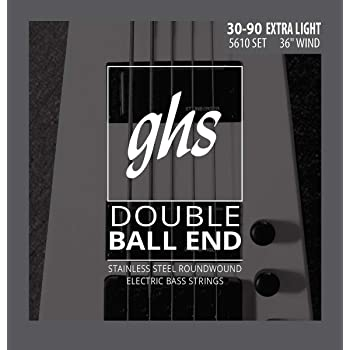 GHS 5610 Extra Light Double Ball End Electric Bass 4 String Set (30-90)