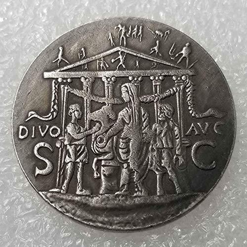 YunBest Monedas antiguas del filósofo rey del imperio romano, moneda conmemorativa romana, hecha a mano