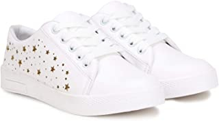 Denill Latest Collection, Comfortable & Stylish Laser Cut Star Design Sneakers for Women's & Girl's