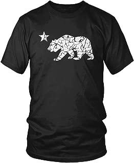 Men's California Flag Bear Logo T-Shirt