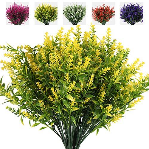 RECUTMS Flores Falsas al Aire Libre, 8PCS Flores al Aire Libre Resistentes...