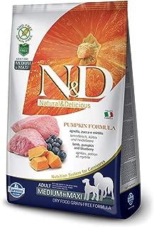 Farmina N&D Dog Dry Grain Free Pumpkin Medium/Maxi Lamb & Blueberry 5.5 Pounds