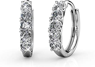 Small Hoop earring swarovski cristal white gold 18k new 2019 gifts for women by Thalie