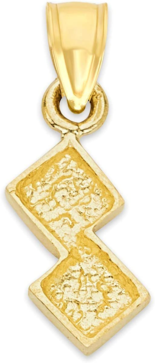 10k Real Solid Gold Dainty Lucky Seven Dice Roll Pendant, Gambler Jewelry, Good Luck Gifts for Her