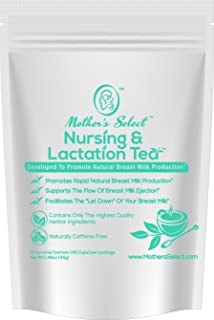 Nursing & Lactation Tea Sachets by Mother's Select to Increase Breast Milk Supply, All Natural, Caffeine-Free Nursing Tea Bags, with Fenugreek, Blessed Thistle, Fennel Seed & More for Breastfeeding!