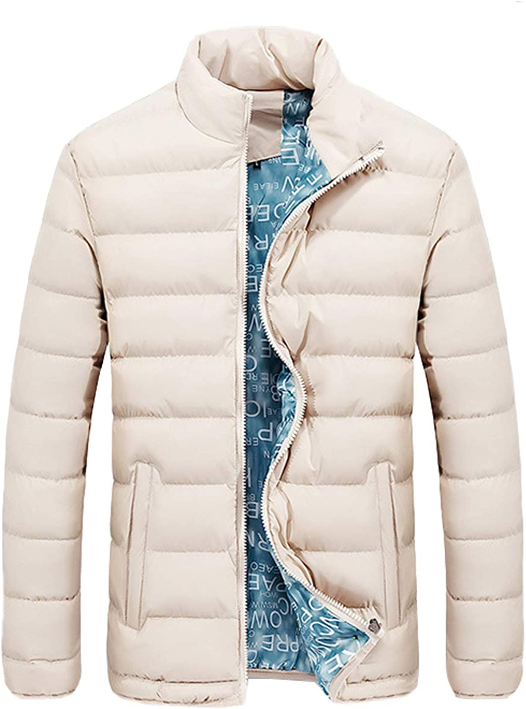 Hongsui Mens Down Alternative Jacket Puffer Coat Packable Warm Insulation