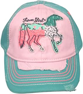 Farm Girl Kids Patchwork Horse Mesh Hat