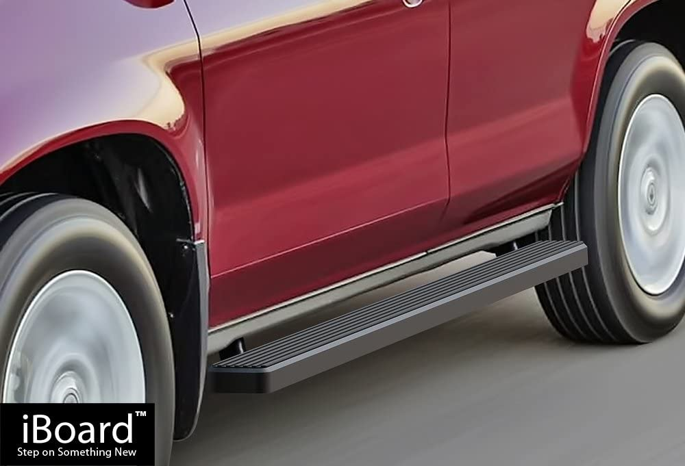 APS iBoard Black Powder Coated 4 Super intense SALE 5 ☆ popular Running Boards inches Ba Nerf