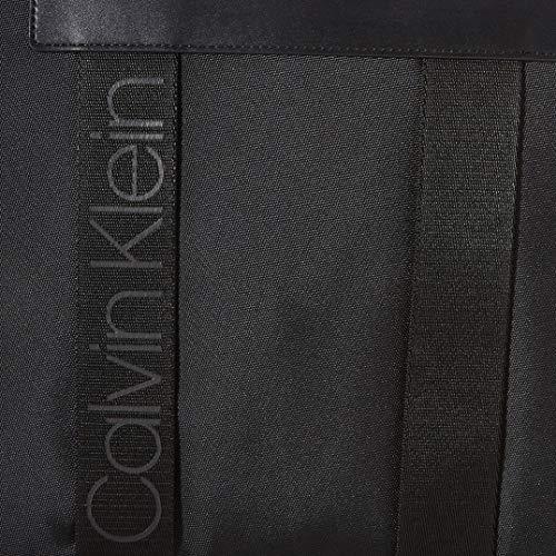 CALVIN KLEIN Men's NASTRO Logo Laptop Bag Briefcases, Black, OS