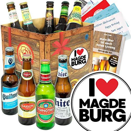I love Magdeburg - Biere aus aller Welt - Magdeburg Geschenk Paar