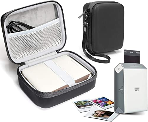 new arrival Protective Case for Fujifilm INSTAX outlet online sale Share SP-2 Smart Phone Printer, Mesh online sale Pocket for Cable and Printing Paper (Matte Black) outlet sale