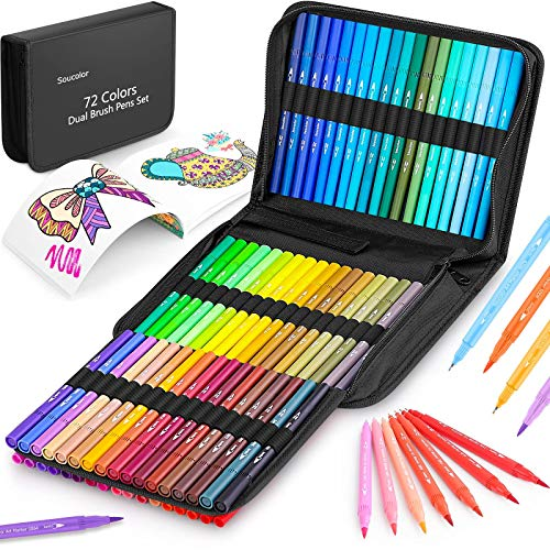 Coloring Markers Pens Set for Adult Coloring Book,...
