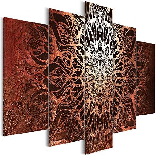 murando Cuadros Impresos en Lienzo Que Brillan en la Oscuridad 225x112 cm 5 Piezas Noche y día Cuadros de Pared Pinturas fosforescentes Lienzo de Tejido no Tejido Mandala Orient p-A-0029-ag-o