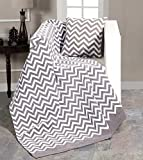 EHC - Manta para sofá de Chenilla, 130 x 170 cm, Doble pequeña, Color Negro,...