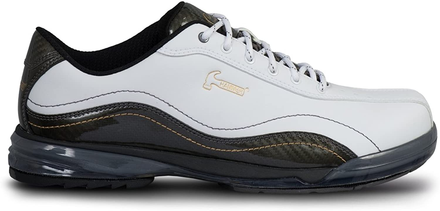 Hammer Mens Force Performance Bowling shoes White Carbon- Right Hand