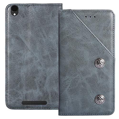 YLYT Flip Blue Schutz Hülle Hülle Für Archos Core 55 4G 5.5 inch Etui Leder Tasche Handyhülle Hochwertiges Stoßfeste Kartenfach Cover