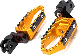 MC Motoparts Gold Front Wide CNC Touring 25mm Extended Footpegs For Ducati Monster 750 800 /ie Monster 900 1000