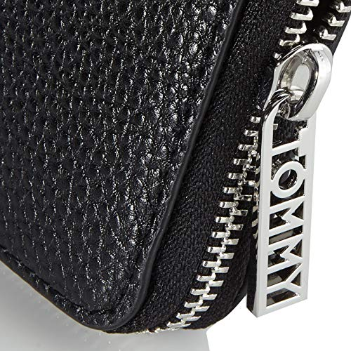 Tommy Hilfiger Women's TH Essence MED ZA Wallet Small Leather Goods, Black, One Size