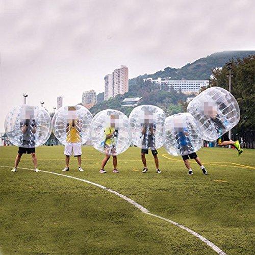 amazingsportstm 6Bälle Bubble Fußball Bälle Anzug Billig Dia 5'1,5m für Erwachsene transparent PVC (1,2m 1,7m erhältlich)
