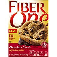 Fiber One Cookies, Soft Baked Chocolate Chunk Cookies, 1.1 Ounce