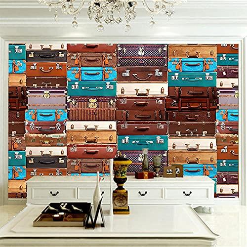 APAJSG Papel pintado mural Decoración de pared para el hogar no tejida 200x175 cm Maleta de color