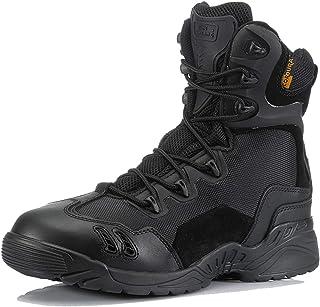 ZZMFC Bottes d'armée Tactiques pour Hommes, randonnée, Cuir Durable, Chaussures d'armée, Chaussures d'entraînement, armée ...
