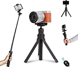 Mini Desktop Tripod for Camera and Phone Small Extension Pole Selfie Stick Stand Tripod Table top for iPhone Gopro DSLR Ca...