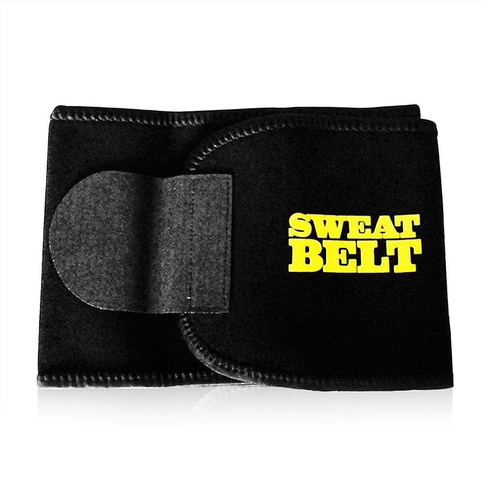 弾性男性女性ウエストおなかスポーツボディシェイパーバンドベルトラップ脂肪火傷痩身運動用品シェイプウェアコルセット - 黒