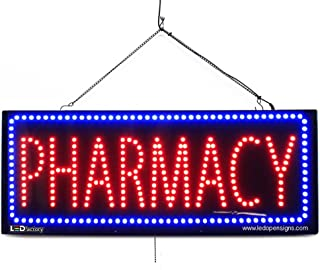 Large LED Window Business Sign - Pharmacy - Extra Bright LEDs - Can Be Seen Through Tinted Windows - Extra Large - 32 inches Wide (#2618)