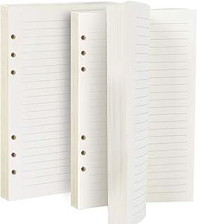 LEOBRO【2冊セット】システム手帳リフィル 手帳リフィル A5サイズ メモ 6穴 クリーム 横罫8mm 160枚