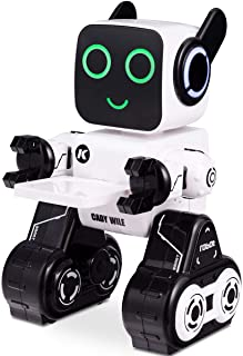 Costzon Remote Control Robot Toy, Wireless RC Robot Senses Gesture, Sings, Dances, Talks, and Teaches, Programmable Smart Robot Kit for Kids Boys and Girls (White)