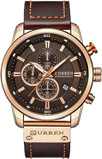 54fb1ecb4b4 PHCOOVERS Men s Chronograph Quartz Watch Waterproof Analog Calendar Date  Fashion Business Round Dial Quartz Wrist Watch