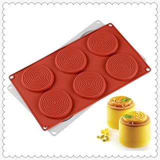 French Dessert Mousse Silica Gel Mold Spiral Mosquito Repellent Incense Cake Baking Tool Biscuit Mold