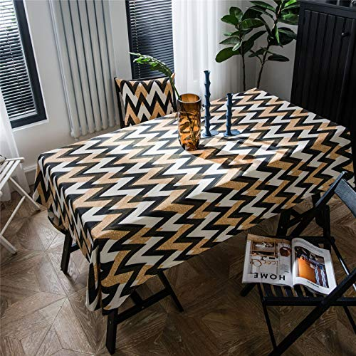 CCBAO Mantel Estampado Corrugado Dorado Estilo Bohemio Sala De Estar Hogar Rectangular Comedor Mantel Mesa Cuadrada 100x140cm