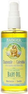 Badger Natural & Organic Baby Oil, 118 milliliters
