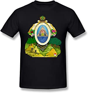 X-JUSEN Men's Coat Of Arms Of Honduras National Emblem Short-Sleeve Cotton T-Shirts Tee Top Blouse Pullover Coat