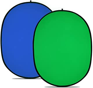 Neewer Chromakey Green Chromakey Blue Collapsible Backdrop Collapsible Reversible Background 5'x7' Chroma-Key Blue/Green