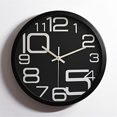 Imoerjia Metal Stainless Steel Mute Wall Clock Creative Living Room Bedroom Clock,30Cm,B