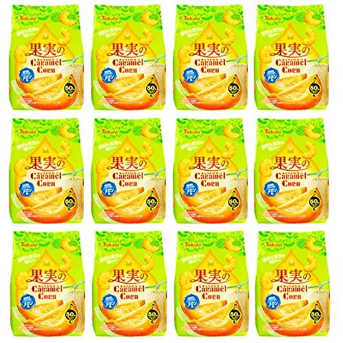 東ハト 果実のキャラメルコーンメロン味 65g ×12袋