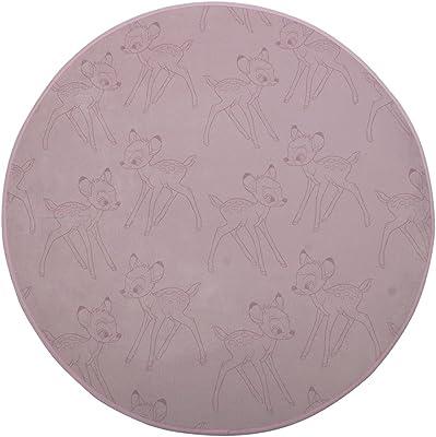 marque Dourev Tapis Rond 80 cm Bambi Fleur Rose