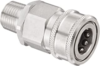 1//2 Body Eaton Hansen LL4KP26BS115 Stainless Steel 303 ISO-B Interchange Hydraulic Fitting 1//2-14 BSPP Female PTFE Seal 1//2-14 BSPP Female 1//2 Body Plug with Valve