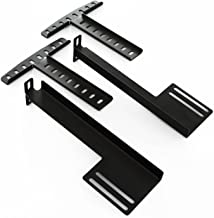 LUCID Headboard Brackets - Attach Headboard to L300 Adjustable Bed Base - Easy to Customize Durable - Solid Steel - Black