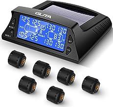 GUTA Tire Pressure Monitoring System for RV Trailer - 6 External Sensor(0-188 PSI) tpms, 6 Alarm Modes, Backlight LCD Disp...