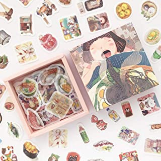 Doraking 200PCS Middle Size Japanese Food Noodles Sushi Theme Scrapbook Washi Stickers for Scrapbooking Diary Decoration (...
