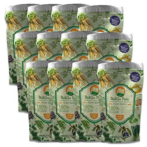 MultiGen Purees, Pureed Vegetable Meals for Adults and Children, Healthy 6 Ounce Portion (Herby Roots - 12 Pack)