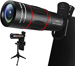 Cell Phone Lens, 18X Zoom Telephoto Lens with Tripod, HD Phone Camera Lens for iPhone, Samsung, Android Smartphone, Monocular Telescope