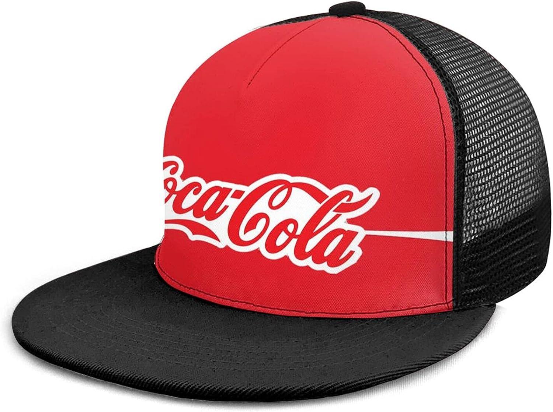 Vintage Old Coke Hat for Men Women Adjustable Mesh Trucker Hat Snapback Baseball Hats Denim Dad Hat Flat Bill Caps